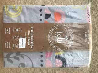 Lolli Living premium fitted cot sheets - never used, 2 sets, will fit Boori cots