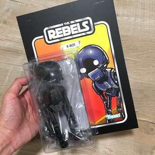 Fan made SW k-bot figure k-2so inspired designer toys Star Wars droid by wetworks fan art
