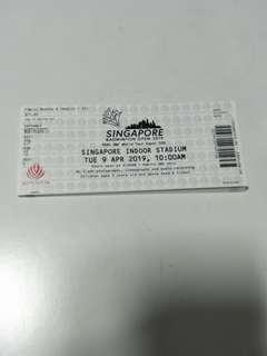 Singapore Badminton Open 2019 - 11 April Ticket