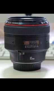 Canon 85mm f1.2 II