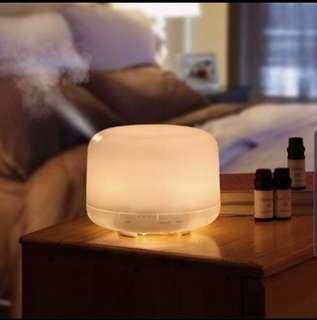 🚚 500ML Muji Style Humidifier Aroma Diffuser 8 LED Light
