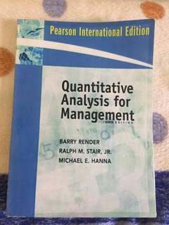 Buku Kuliah Manajemen/Bisnis - Quantitative Analysis for Management (Manajemen Kuantitatif), Barry Render dkk, Bahasa Inggris