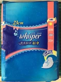 Whisper護舒寶23cm衛生巾(20片)一包