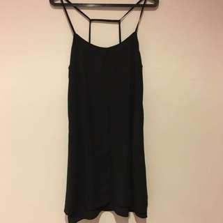 Topshop Black Strappy Slip Dress
