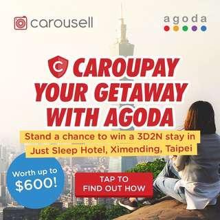 CarouPay your Getaway with Agoda!