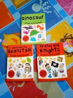 (NEW) Sticker Activity Books