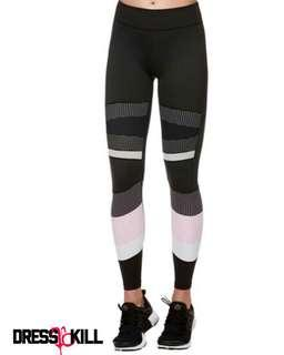 Black pink workout leggings