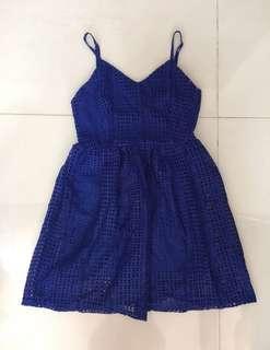 NEONMELLO blue eyelet dress