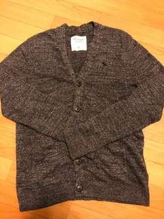 全新 Abercrombie & Fitch (A&F) Dark Grey Cardigan(新年買新衫)
