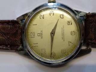 古董鐵達時男裝手動機械表,估計是50至60年代,行走正常,32mm,品常如圖