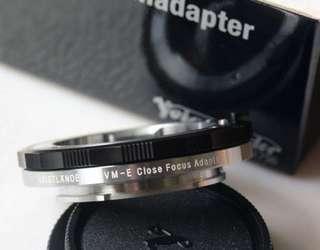 Voigtlander VM-E Close Focus Adapter for Sony E mount cameras