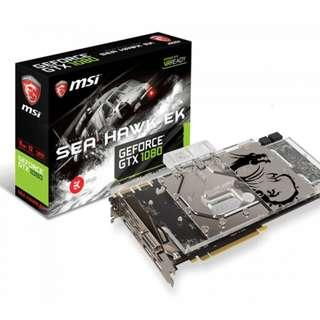 MSI GTX 1080 Sea Hawk water cooling graphic card with  full covered EK water block