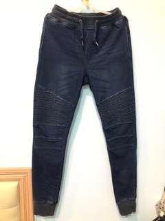 🚚 Rocksteady 棉褲 抽繩 機車 螺紋 長褲 縮口褲