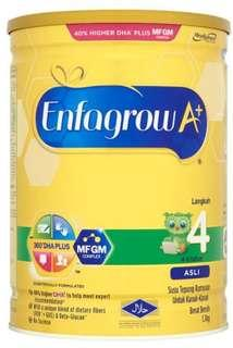 Enfagrow stage 4 milk powder 1.7kg