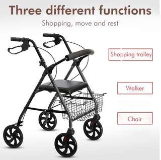 Walking frame with carrying bag, rollator, walking aids, walker
