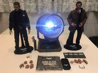 中古hot toys Hottoys Jim Gordon John Blake with Bat Signal Batman TDKR 蝙蝠俠 黑暗騎士