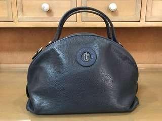 A. Testoni Navy Blue Tote Bag