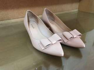 Le Saunda Light Pink Closed with Ribbon Shoes