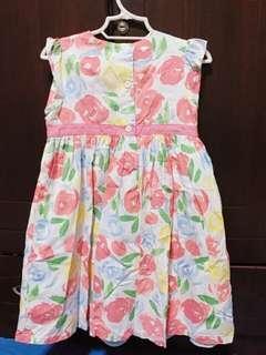 Floral pastel colored dress