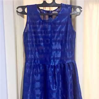Blue Mini Dress Avenue