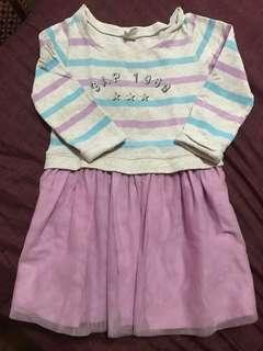 Purple stripped dress