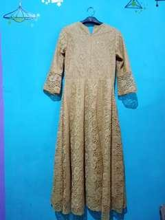 Dress brokat panjang#dibuangsayang