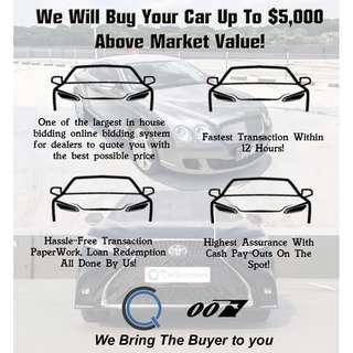 Sell / Scrap / Export Your Car At The Highest! Cash Payout Immediately Available!