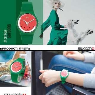 🚚 Swatch 絕版 西瓜手錶