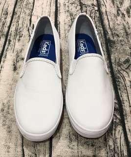 Keds休閒皮革小白鞋懶人鞋
