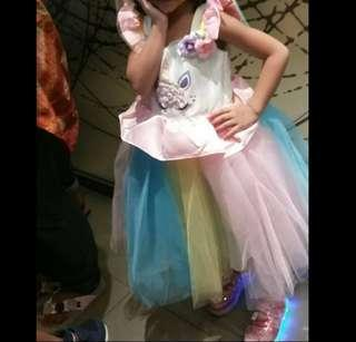 Dress gaun unicorn baby girl anak cewe kuda poni