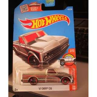 Hot Wheels '67 CHEVY C10 US CARD