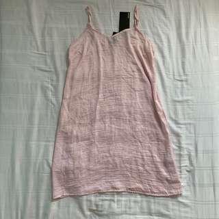 bnwt factorie pale pink slip cami veck dress