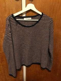 Quirky circus crew neck knit