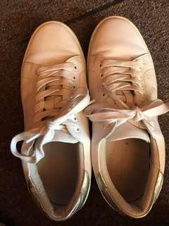 Witchery leather white/silver sneakers