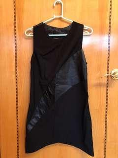 Black cut back dress