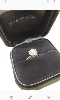 🚚 Tiffany and Co Round cut 1.35 carat diamond with platinum ring