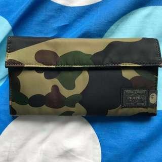 💯Original Porter Bape Long Camo Wallet from JAPAN 🇯🇵