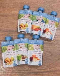 🚚 Bellamy's Organic Food Pouches (Assorted)