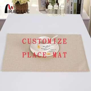 ✳️ Costomized Place Mat!