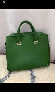 💯 Authentic Alfred Dunhill Bourdon Green Briefcase