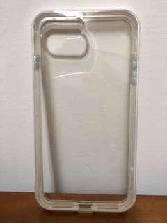 Iphone I8 plus 雙層 手機殼 保護套 白 透明
