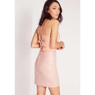 Missguided peach bodysuit