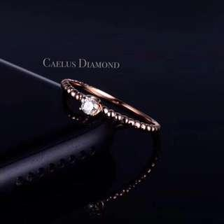 日系小清新鑽石戒指 $1,600