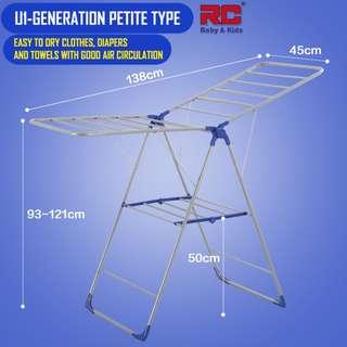 RC-Global Dual-Wing Clothes Dryer / Simple drying rack / Standing Clothes Hanger / belcony clothes dryer / belcony Clothes drying rack / foldable Clothes rack (Carbon Steel)