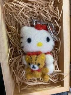 🚚 Hello kitty 羊毛氈鑰匙圈