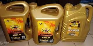 Pennzoil long life and bardahl 15w-40 diesel engine oil