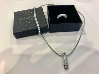 3 piece swarovski jewelry set