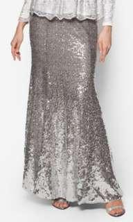 Zalia Gradient Sequin Skirt