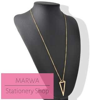 1pc Chain Necklace With Triangle Pendant (CN004)
