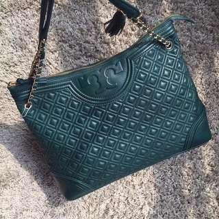 #Clearance# Tory Burch Fleming Tote green